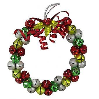 Gisela Graham joulu Jingle Bell koristeellinen kranssi