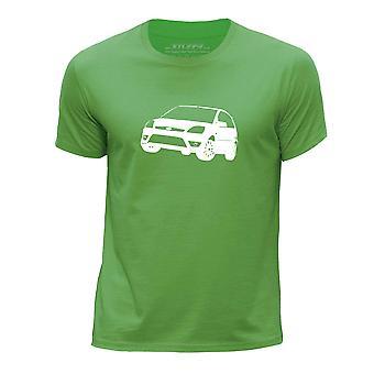 STUFF4 Pojan Pyöreä kaula T-paita/kaavain auton Art / 05 Fiesta ST/vihreä