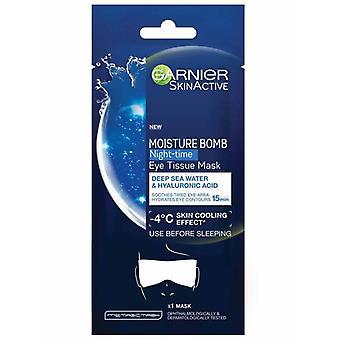 Garnier Moisture Bomb Deep Sea Water en Hyaluron Acid Night-time Eye Tissue Mask,