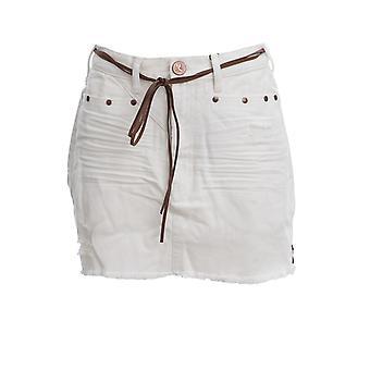Oneteaspoon 23006white Women's White Cotton Skirt