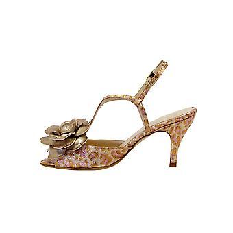 Lenora Sambaleocpr Women's Leopard Leather Sandals