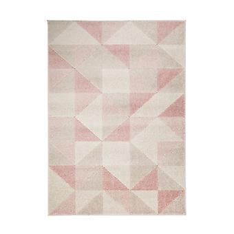 Urban Triangle Rugs In Blush Pink