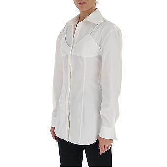 Jacquemus 201sh0220122100 Women's White Cotton Shirt