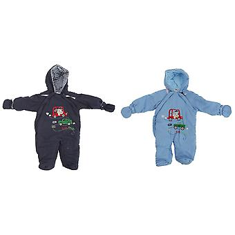 Baby Boys Beep Beep Dog All In One Hooded Winter Snowsuit