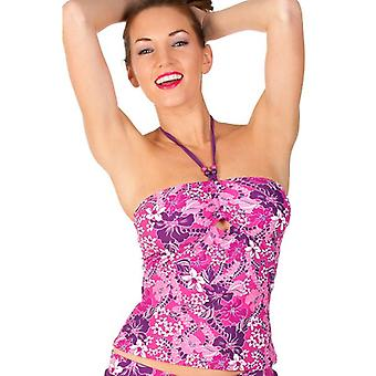 Camille Womens Floral Bademoden Damen Bandeau Tankini