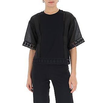 See By Chloé Chs20ujh27081001 Women's Black Cotton T-shirt