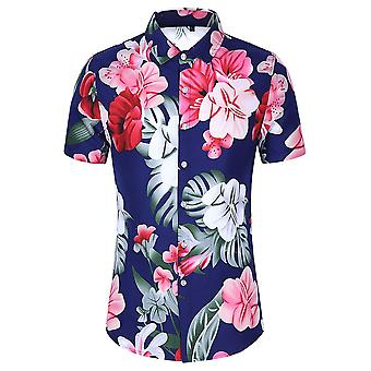 Allthemen Men's Camisetas Estampadas Hawaiian Summer Beach Tops