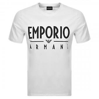 Emporio Armani Eagle Logo Stretch T-Shirt White 3H1T90 1J0AZ