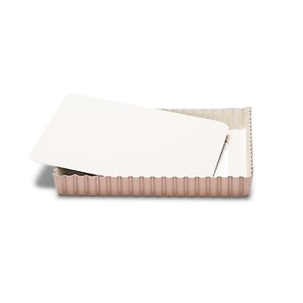 Patisse Keramisk pie form firkantet kobber/creme 21 cm