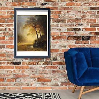 Albert Bierstadt - Hetch Hetchy Canyon Mount Holyoke Poster Print Giclee