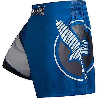 Hayabusa Mid-Thigh Kick Boxing Fight Shorts - Blue/Gray