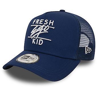 Fresh Ego Kid Mesh Trucker Baseball Cap Navy 50