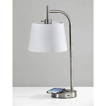 Lámpara de mesa de carga de metal de acero tech mejorado