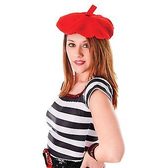 Französische Baskenmütze. Rot