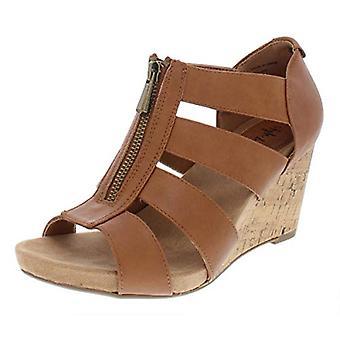Style et Cie Femmes Fettee Cuir Open Toe Casual Platform Sandals