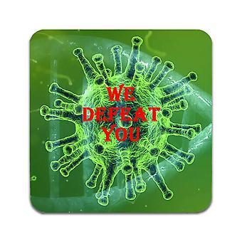 2 ST Defeat Coronavirus Covid-19 Coasters