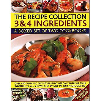 The Recipe Collection - 3 & 4 Ingredients - A boxed set of two cook