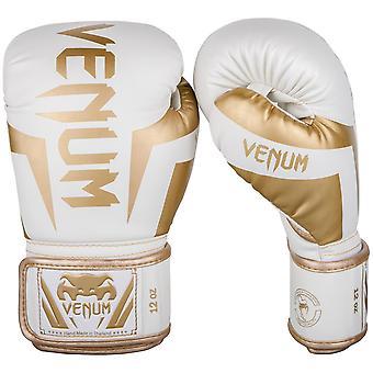 Venum Elite Boxing Gloves White/Gold