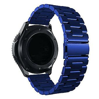 For Samsung Galaxy Watch Active Band 42 46mm Stainless Steel Strap[42 mm,Blue]