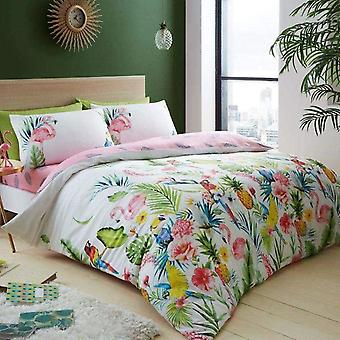 Leila Tropical Floral Duvet Cover Set