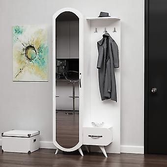 Wejście mobilne Kerry Color White, Chrom z układem melaminowym, metal 80x35x180 cm