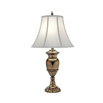 Waldorf Lamp, Burnished Brass With Pearl White Shade