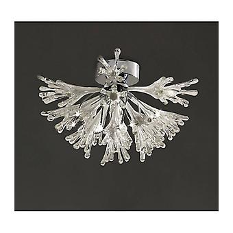 Love Small Ceiling Lamp 9 Bulbs Polished Chrome / Frosted White