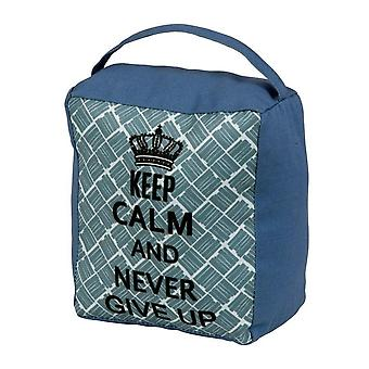 SupaHome `Keep Calm and Never Give Up` Door Stop