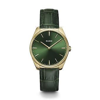 Cluse CW0101212006 La Féroce Green Leather Wristwatch