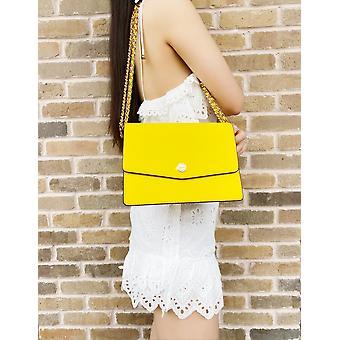 Tory burch robinson floral interior convertible shoulder bag lemon drop yellow