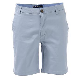 Men-apos;s Ben Sherman Stretch Chino Short en bleu
