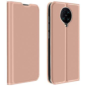 Protective Cover Xiaomi Poco F2 Pro Cardholder Video Holder Dux Ducis Pink