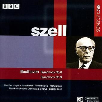 L.V. Beethoven - Beethoven: Symphony No. 8; Symphony No. 9 [CD] USA import