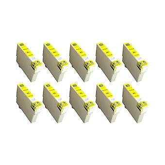 RudyTwos 10x Replacement for Epson 16XL(Pen) Ink Unit Yellow Compatible with Workforce WF-2010W, WF-2510WF, WF-2520NF, WF-2530WF, WF-2540W, WF-2540WF, WF-2630WF, WF-2650DWF, WF-2660DWF, WF-2750DWF, WF