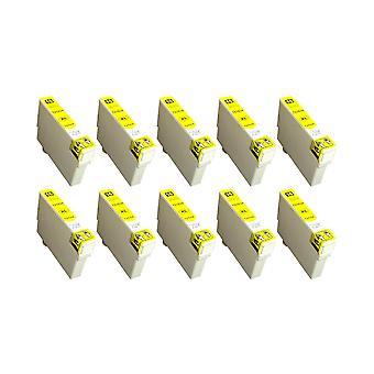 RudyTwos החלפת 10x עבור Epson 16XL (עט) יחידת דיו תואם צהוב כוח העבודה WF-2010W, WF-2510WF, WF-2520NF, WF-2530WF, WF-2540W, WF-2540W, wf-2630WF, wf-2650DWF, wf-2660DWF, WF-2750DWF, WF