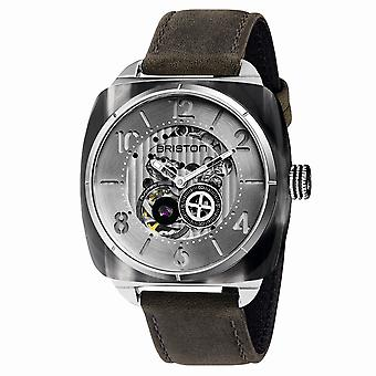 Briston 201042.SA.G.2.B Streamliner Skeleton Grey Strap Wristwatch