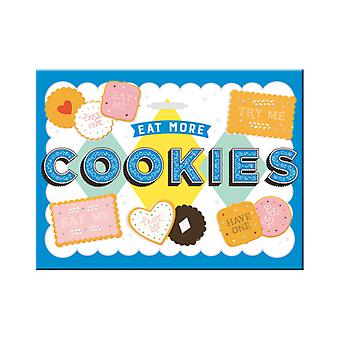 Eat More Cookies Nostalgic Metal Magnet - Cracker Filler Gift