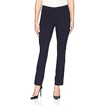 Brand - Lark & Ro Women's Slim Leg Stretch Pant: Comfort Fit, Navy, 6