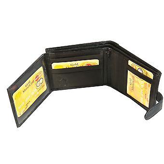 Primehide BASIC - Mens Leather Wallet - RFID Blocking - Preto / Marrom - 304