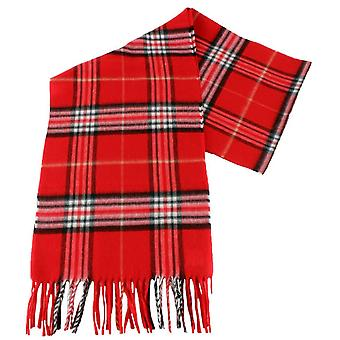 Fraas Checked Scarf - Bright Red