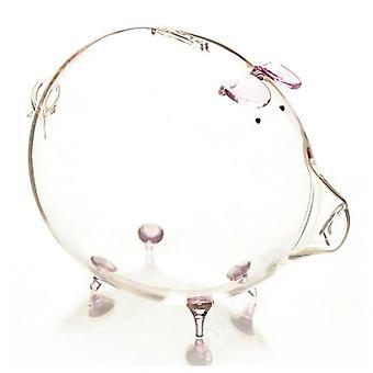 Schwein Piggy Bank Geld Münze sparen Box süße Transparent Glas Souvenir Geburtstagsgeschenk für Kinder Kinder