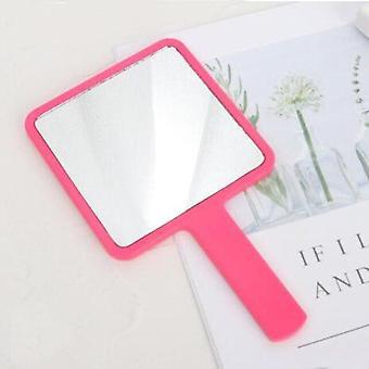 Rukoväť Zrkadlo námestie make-up handheld Vanity Mirror Spa Salon Make-up Vanity Kozmetické kompaktné zrkadlo pre ženy