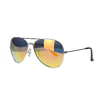 النظارات الشمسية Unisex Cat.3 الفضة / البرتقال (amu19209g)