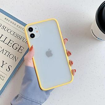 דברים מאושרים® iPhone 8 בתוספת כיסוי מקרה פגוש סיליקון TPU נגד הלם צהוב