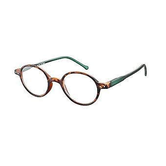 Reading Glasses Unisex Le-0189B Lennon Brown/Green Strength +2.50