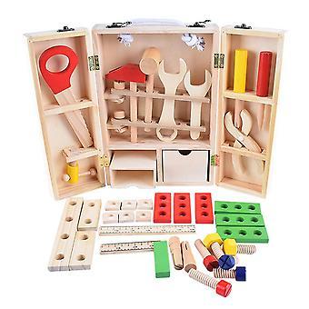 puun korjaus asettaa työkalu monitoiminen kannettava korjaus työkalu laatikko sarjakuva poika koulutus poika palapeli lelu