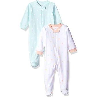Essentials Baby Girls 2-Pack Sleep and Play, Uni Star, 3-6M