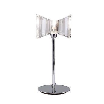 Inspired Mantra - Kromo - Table Lamp 1 Light G9 Sraight Frame, Polished Chrome
