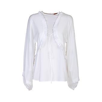 N°21 G1215111101 Dames's Witte Acetaatblouse