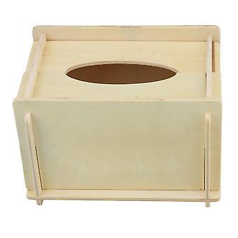 Parlor Bambu Porta-guardanapos de madeira caixas de bombeamento 190MM
